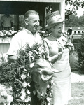 Mrs. Joseph L. Merrill Presents Award to Ralph Petersen