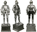 Three views of a complete suit of boy's armour
