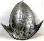 Pear-Shaped Morion, In Bright Steel