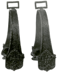 Pair Of Embossed Bronze Stirrups