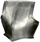 Fine Breast Plate Of Bright Steel
