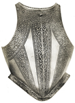 Fine Breast Plate Of Peascod Form