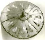 "Circular ""Gonne"" Shield, Of Wood"