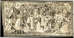 """Gothic Tapestry Panel Representing Allegorical Scenes From The New Testament - """"Baptism"""""""