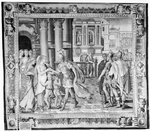 Coriolanus exiles and bids goodbye to his mother, wife and children. From The History of Coriolanus