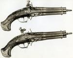 A Pair of Revolving Flint-Lock Pistols